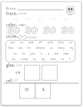 Kindergarten Journeys (2014) Sight Word Practice Unit 4