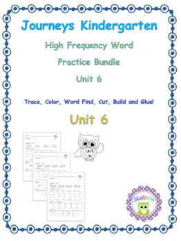 Kindergarten Journeys (2014) Sight Word Practice Unit 6