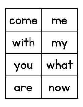 Kindergarten Journeys 2017 High Frequency Word Cards - black