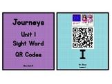 Kindergarten Journeys 2017 Unit 1 Sight Words QR Codes