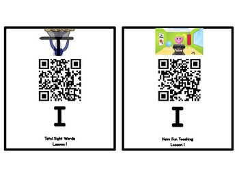 Kindergarten Journeys 2017 Unit 1 Sight Words QR Codes - Ink Saving Option