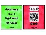 Kindergarten Journeys 2017 Unit 2 Sight Words QR Codes