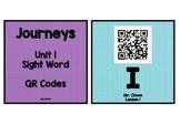 Kindergarten Journeys 2017 Units 1-6 Sight Words QR Code Bundle