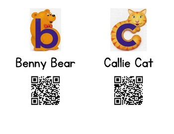 Kindergarten Journeys Alphafriends QR Code Videos