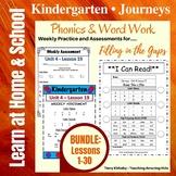 Kindergarten: Journeys BUNDLE Units 1-6 - Phonics/Word Work-Filling in the Gaps