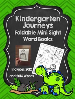 Kindergarten Journeys Dinosaur Foldable Mini Sight Word Books