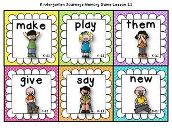 Sight Words Memory {Compatible With Kindergarten Journeys}