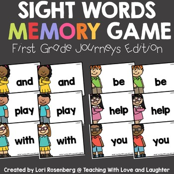 Sight Word Memory {For Use With First Grade Journeys}
