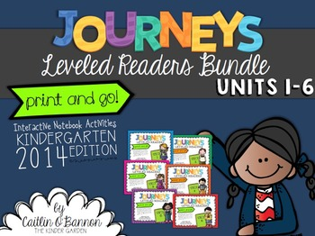 Kindergarten Journeys Interactive Notebook Activities for Leveled Readers BUNDLE