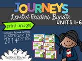 Kindergarten Journeys Interactive Notebook Activities for Leveled Readers BUNDLE