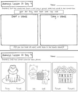 Kindergarten Journeys Lesson 21 Homework