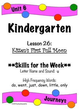 Kindergarten: Journeys-Lesson 26...Filling in the Gaps wit
