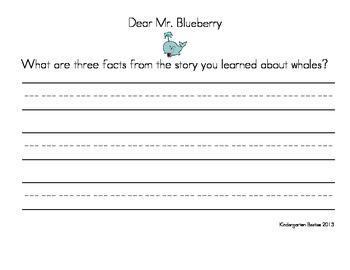 Kindergarten Journeys' Reading Series Story Response Questions