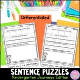 Kindergarten Sentence Puzzles {Compatible With Journeys}