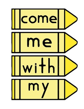 Kindergarten Journeys Sight Word Card