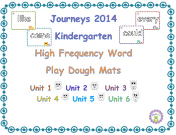Kindergarten Journeys Sight Word Play Dough Mats Units1-6