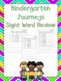 Kindergarten Journeys Sight Word Review