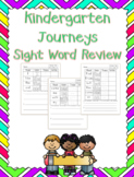 Kindergarten Journeys Sight Word Review