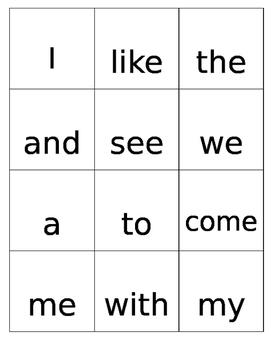 Kindergarten Journeys Sight Words
