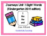 Kindergarten Journeys Sight Words Unit 1 (2011 edition)