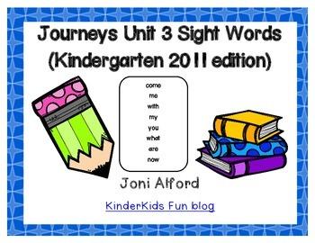 Kindergarten Journeys Sight Words Unit 3 (2011 edition)