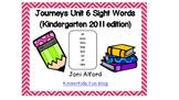 Kindergarten Journeys Sight Words Unit 6 (2011 edition)