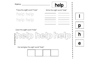 Kindergarten Journeys Sight Words Unit 6 (2011 edition)