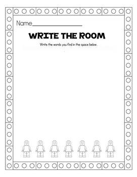 Kindergarten Journeys Sight Words Write the Room Center