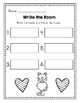 Kindergarten Journeys Sight Words Write the Room Valentine Center