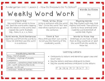 Kindergarten Journeys 2014, Spelling Vocabulary Center Activity Yearlong Bundle