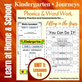 Kindergarten: Journeys Unit 1 - Phonics & Word Work: Filli