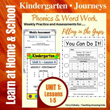 Kindergarten: Journeys-Unit 1....Filling in the Gaps with