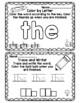 Kindergarten  High Frequency Word Practice - Journeys Unit 1