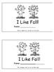 Kindergarten Journeys (Unit 1): I Like Fall! Sight Word Book