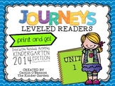 Kindergarten Journeys Unit 1 Interactive Notebook Activities for Leveled Readers