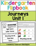Kindergarten Journeys Unit 1 Weekly Skills Flipbooks