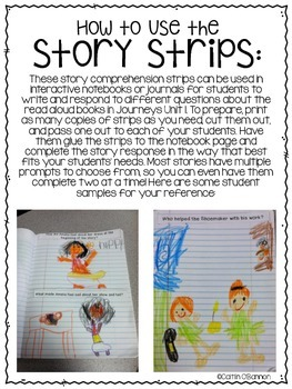 Kindergarten Journeys Unit 2 Reading Comprehension Story Strips