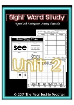 Kindergarten Journeys Unit 2 Sight Word Supplement