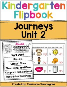 Kindergarten Journeys Unit 2 Weekly Skills Flipbooks