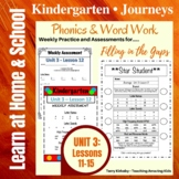 Kindergarten: Journeys Unit 3 - Phonics & Word Work: Filli