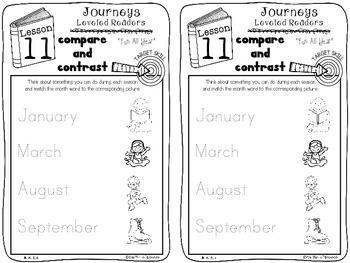 Kindergarten Journeys Unit 3 Interactive Notebook Activities for Leveled Readers