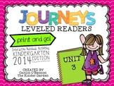 Kindergarten Journeys Unit 3 Interactive Notebook Activiti