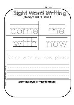 Kindergarten Journeys Unit 3 Sight Word Supplement