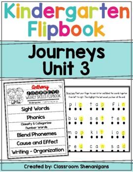 Kindergarten Journeys Unit 3 Weekly Skills Flipbook SET