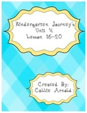 Kindergarten Journey's Unit 4
