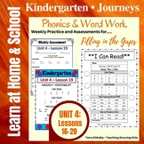 Kindergarten: Journeys Unit 4 - Phonics & Word Work: Filling in the Gaps
