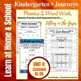 Kindergarten: Journeys Unit 4 - Phonics & Word Work: Filling in the Gaps