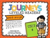 Kindergarten Journeys Unit 4 Interactive Notebook Activities for Leveled Readers