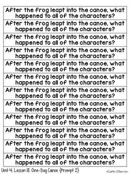 Kindergarten Journeys Unit 4 Reading Comprehension Story Strips