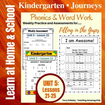Kindergarten: Journeys-Unit 5....Filling in the Gaps with Phonics & Word Work!